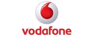 Logo Vodafone sobre fondo blanco