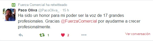 Tweet de Francisco Oliva