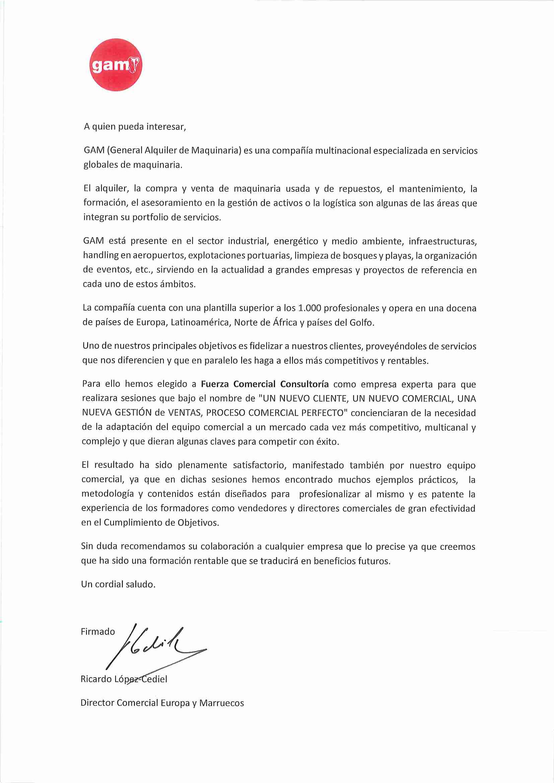 Ricardo López Cediel, Dir. Comercial Europa y Marruecos en GAM ...