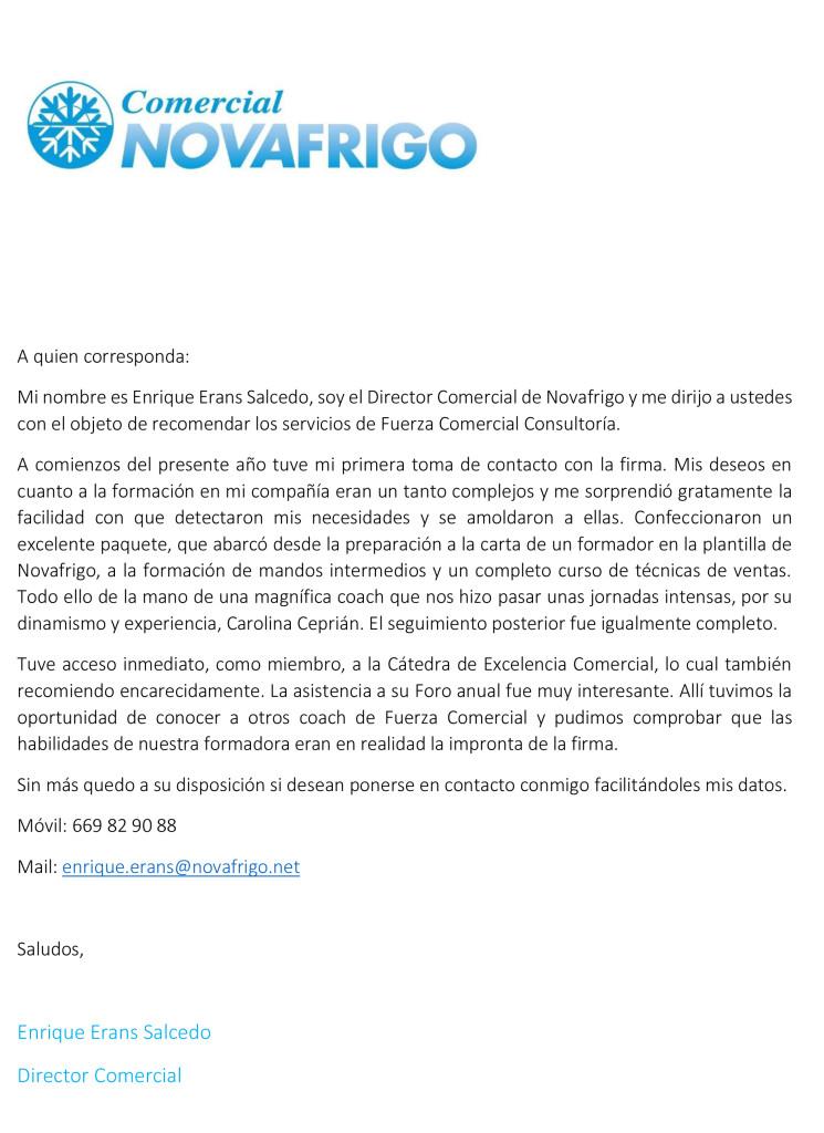 CARTA DE RECOMENDACION Novafrigo_Formador de Formadores Tecnicas de venta y Mandos intermedios (1)