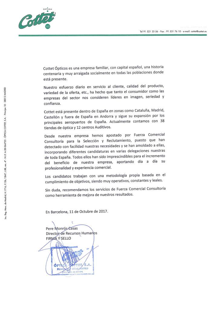 CARTA RECOMENDACIÓN COTTET