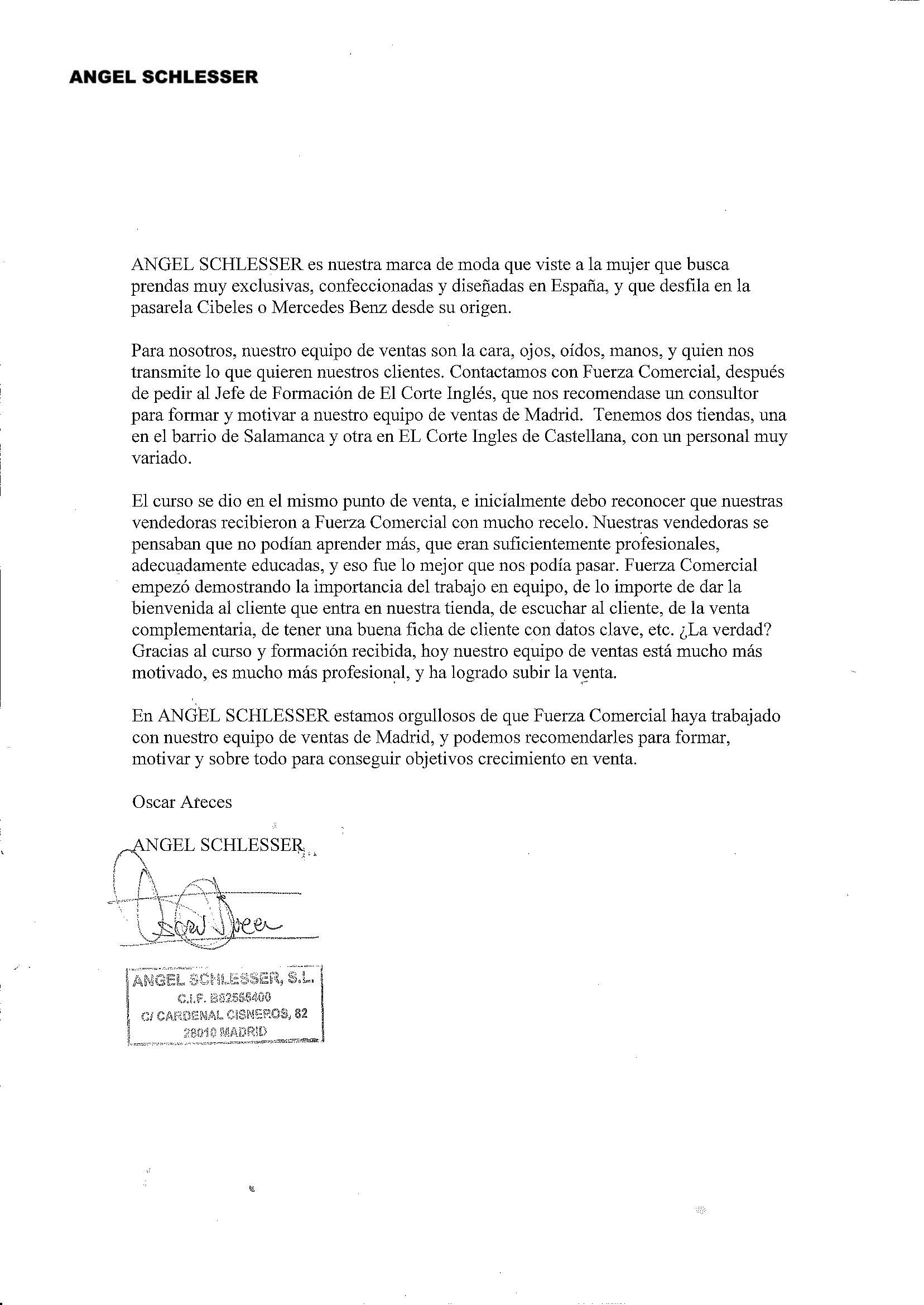 00 Carta Recomendacion Angel Schlesser OJT Retail
